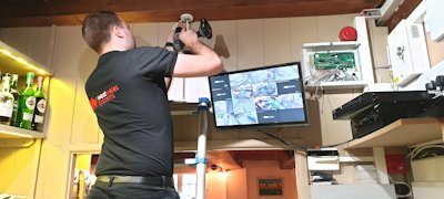 West Wales Systems installer working on CCTV